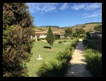 Beautiful front lawn of Maria Elenas House in Oliveira